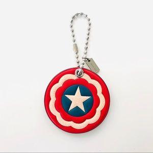 Coach Marvel Captain America Shield Hangtag Charm